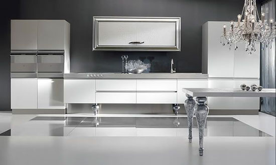 gold or silver kitchen designs ideas for elegant and simplicity