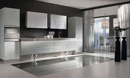 gold or silver kitchens design ideas for elegant and simplicity