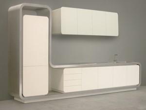 gray scale color Kitchen from Strato Flex 1 Kitchen designed to be new metropolitan kitchen icon
