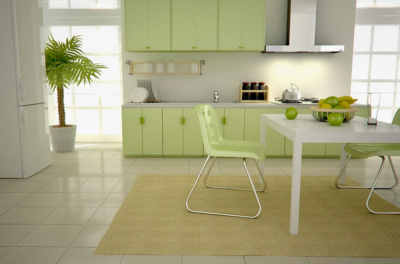 Green kitchen is perfect choice for a kitchen wall and - Colors for a kitchen wall ...