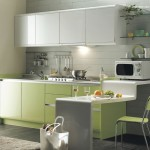 green kitchen is perfect choice for a kitchen wall and cabinets color