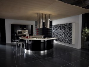 half circle kitchen island with artistic kitchen designs