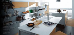 high quality contemporary kitchen design with sleek look and fresh air atmosphere