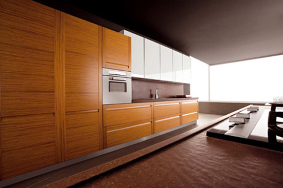 High quality teak kitchen materials and stainless steel for Modern teak kitchen cabinets
