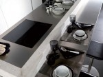 high-tech Corian Kitchen system with remote control from Gamadecor