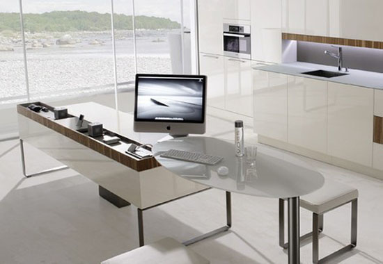 high tech European Kitchens lighting from Germany integral with apple PC and I Pod