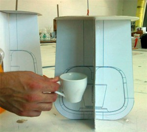 homes coffee machine is really unique with cement by Shmuel Linski