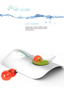 impressing Water weigh scale system using Archimedes principle