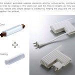 innovative electricity wire kitchen called E-Line cords by Kim Mi Ran