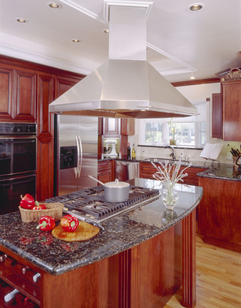 installing cooktop in a kitchen island is an excellent design idea
