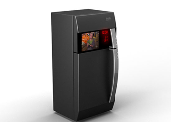 interesting refrigerators 2 fridge built-in TV just enjoying the meal