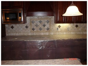 is travertine backsplash modern Travertine Tile Kitchen Backsplash modern backsplash