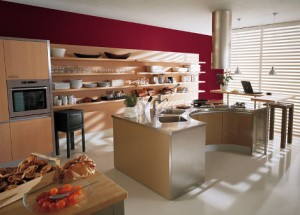italian kitchen red brown