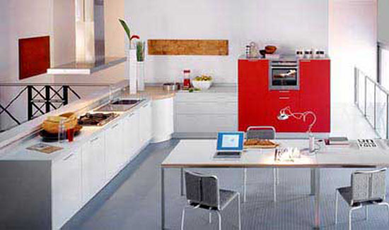 italian kitchen style from Valcucin has clean lines for modern kitchen