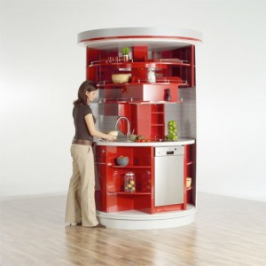 kitchen Small Circle Compact Concepts for small kitchen space