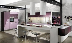 kitchen color combination scheme of decoration by Mobalpa