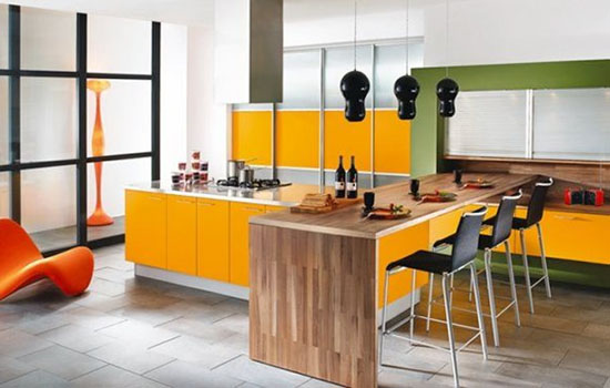 kitchen color combinations scheme of decoration by Mobalpa