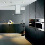 kitchen design with thick worktop top cupboard and natural panels in lightor dark finishes
