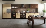 kitchen designer for Scavolini use light oak as kitchen table and chairs