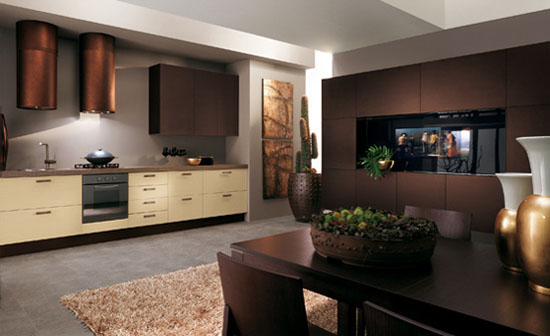kitchen designer for Scavolini use light oak as kitchens table and chair