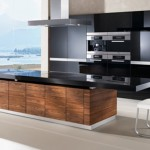 kitchen island K7 adjustable height shelves available in seven types of natural wood