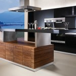kitchen island K7 adjustable height shelves available in seven types of natural woods