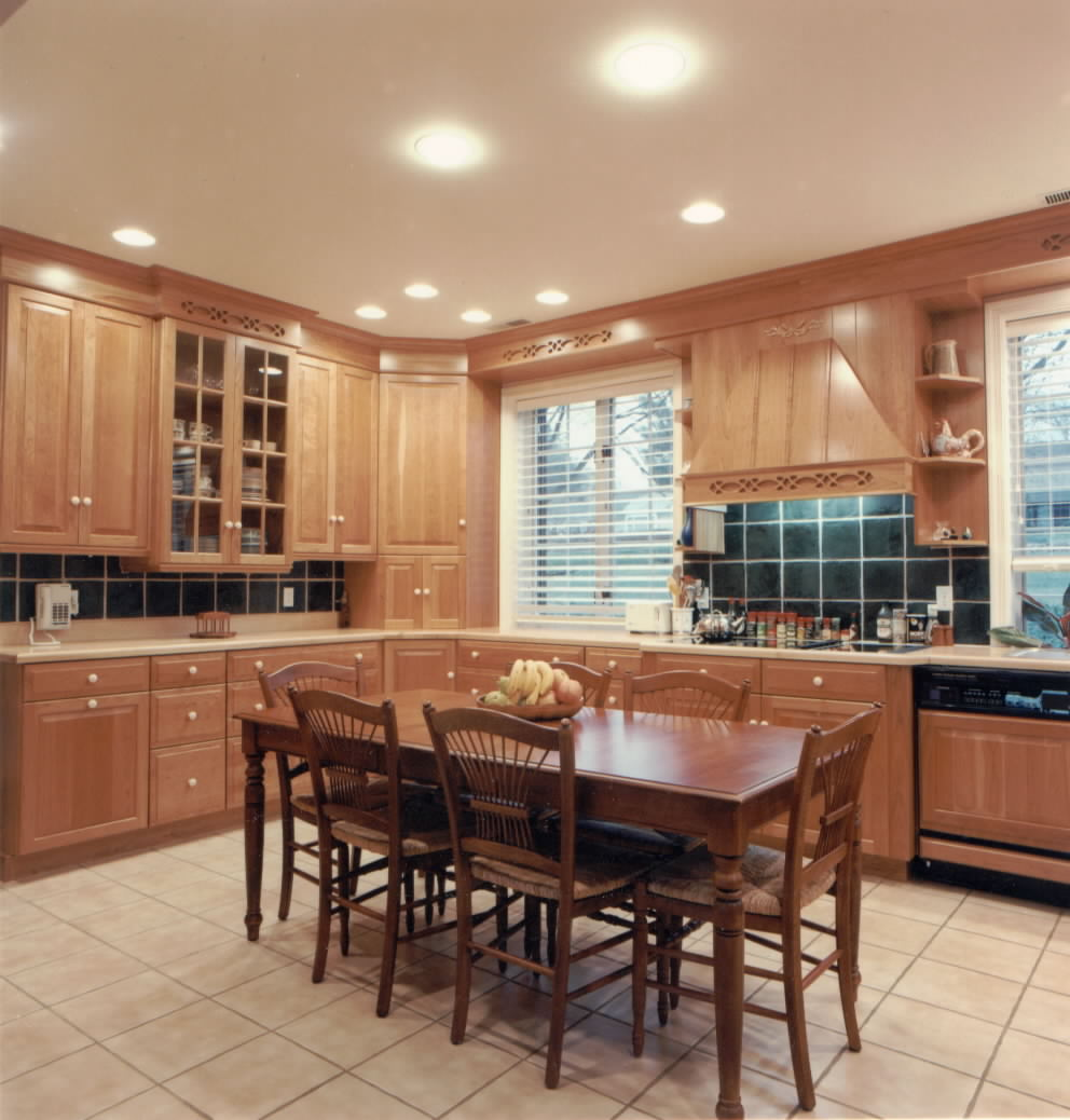 kitchen lighting brown color