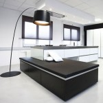 kitchen lounge concept modium kitchen combination living room illuminated by standing lamps