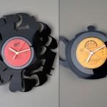kitchen wall clocks design ideas use Vinyl records clocks of many unique shape