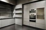 kitchens cabinet fronts in golden with neat satin finish by Giorgio Armani