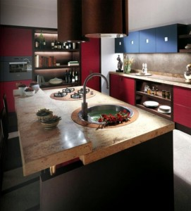 kitchens designer for Scavolini use light oak as kitchen table and chairs