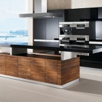 kitchens island K7 adjustable height shelves available in seven types of natural wood