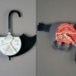 kitchens wall clocks design ideas use Vinyl records clocks of many unique shapes
