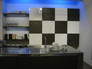 large sliding door chessboard and vertical cabinet interesting kitchen lighting