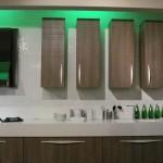large sliding door chessboard and vertical cabinets interesting kitchen lighting