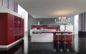 latest kitchen designs Italy Vitali Cucine in a beautiful bright color combination