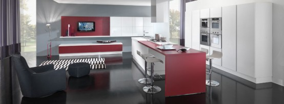 latest kitchen designs Italy Vitali Cucine in a beautiful bright color combinations
