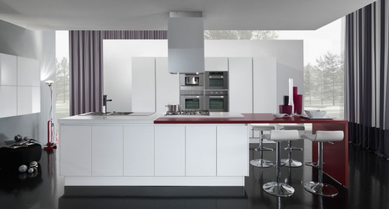 latest kitchens designs Italy Vitali Cucine in a beautiful bright color combination