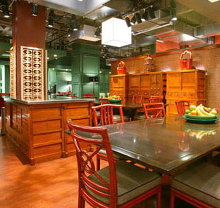 made from reclaimed Gingko and Elm Kitchen Furniture by Greentea specializes in Japan