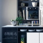 massive paneled wall units Urban Kitchen from Bazzeo New Gaia covered with light organic pattern