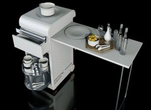 mini kitchen for small apartment design movable by Joongho Choi