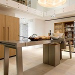 minimal kitchen island design simple and sleek look with art-inspired faucets
