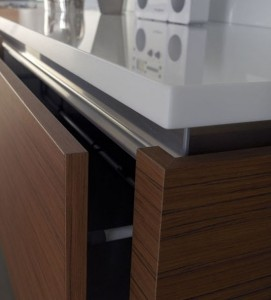 minimalism kitchen style with Zebrano wood easy fit into your kitchen