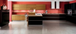 minimalism kitchen style with Zebrano wood easy to fit into your kitchen
