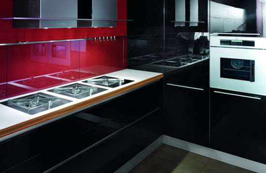 minimalism kitchen style with Zebrano wood easy to fit into your kitchens