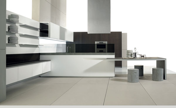 Minimalist Clean Aesthetics Kitchen Design With Flex Wall