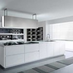 Minimalist kitchen design with white color themes