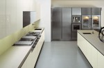 minimalist kitchen with fabulous geometric sink featuring stunningly stark faucet