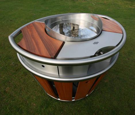 mobile kitchen on wheel bringing indoor comfort outside under the open sky