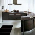modern Round kitchen countertop from pedini super ergonomic technologies